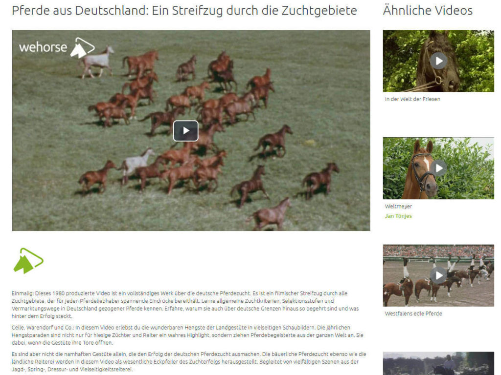 Wehorse Video